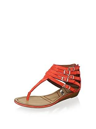Matiko Women's Hannah Strappy Buckle Sandal (Papaya)