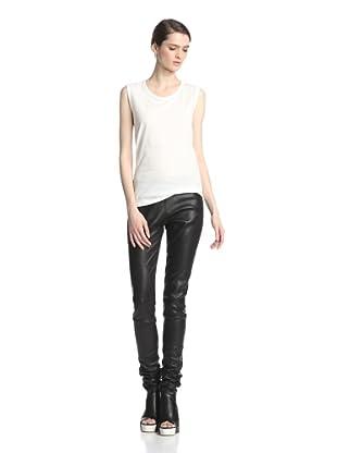 Ann Demeulemeester Women's Leather Trouser (Black)