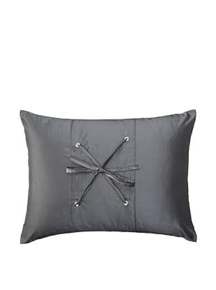 Belle Époque Sky Lace Boudoir Pillow, Grey