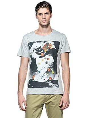 Diesel Camiseta T-Flowershand (Gris)