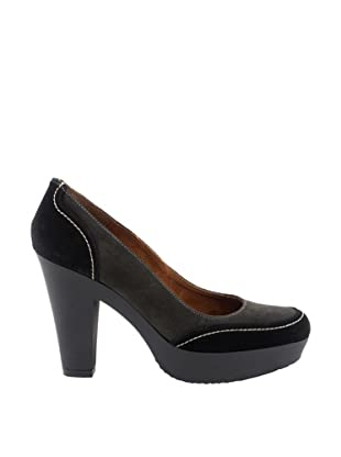 Liberitae Zapatos Plataforma (Negro / Gris)