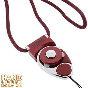 【クリックでお店のこの商品のページへ】HandLinker Extra Carabiner ハンドリンカー エクストラ カラビナ ネックストラップ 落下防止 モバイル 携帯ストラップ フィンガーストラップ レッド: 家電・カメラ