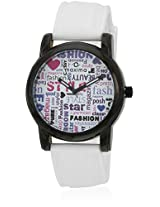 E-28805Pagb White/Multi Analog Watch Maxima