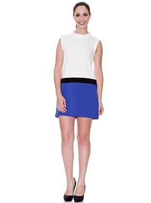 Cortefiel Vestido Casual (Azul)