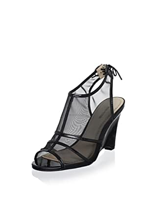 Pour La Victoire Women's Bee Wedge Sandal (Black)