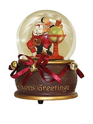 Kurt Adler Musical Seasons Greetings Waterglobe