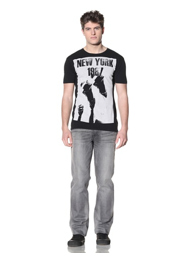 MG Black Label Men's New York T-Shirt (Black)