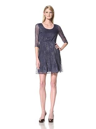Marc New York Women's Printed Scoop Neck Dress (Cornflower)