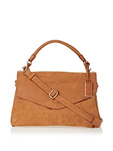 Gryson Women's Cybelle Solid Belted Large Top Handle Messenger (Spice)