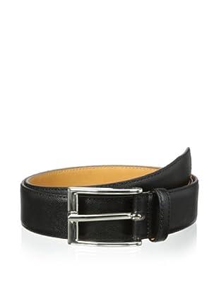 Leone Braconi Men's Saffiano Belt (Black)