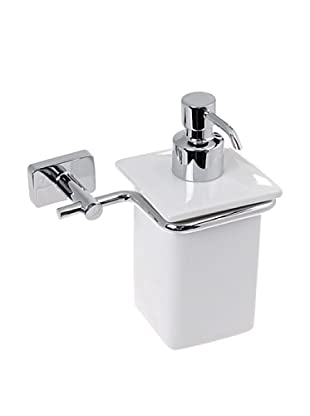 Gedy by Nameek's Minnesota Collection Wall-Mountable Soap Dispenser, White/Polished Chrome