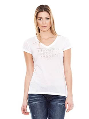 Calvin Klein Jeans Camiseta Cuello V Jeans M/C (Blanco)