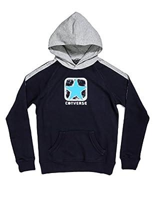 Converse Sudadera Logo Boy Hd (Azul Marino / Gris)