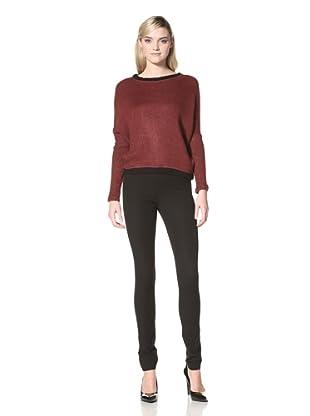 Isabel Lu Women's Easy Fit Sweater (Wine)