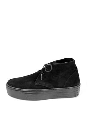 Za-patitos Zapatos Creepers Serraje Lisos (Negro)