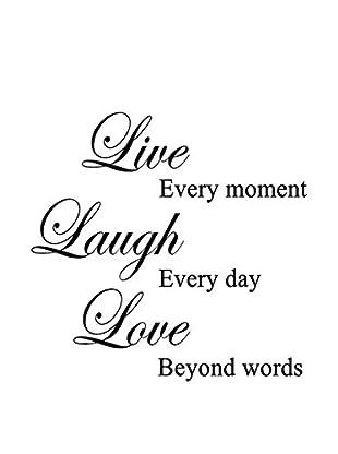 LO+DEMODA Wandtattoo Live Laugh Love