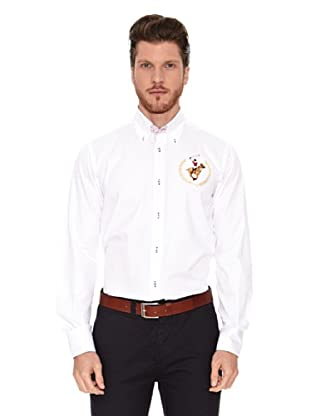 Polo Club Camisa Semientallada Marshall (Blanco)
