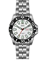 Q&Q Standard Analog White Dial Men's Watch - A174J401Y