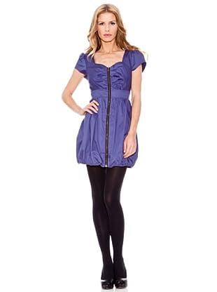 Rare Vestido Con Cremallera (Azul Marino)