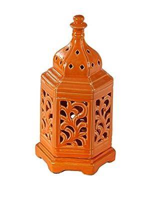 Privilege Medium Ceramic Lantern, Orange