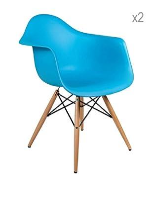 Lo+deModa Set De 2 Sillas Dimero Color Edition Azul claro