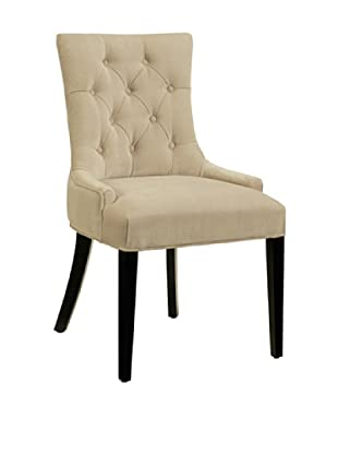 Abbyson Living Collingston Microsuede Tufted Dining Chair, Cream