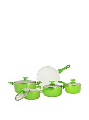Ceramic Pan Batería De Cocina Cerámica Verde De 9 Piezas