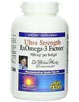 Natural Factors Ultra Rxomega-3 Factors EPA/DHA 900mg One-per-day Enteric Coated Softgels, 150-Count