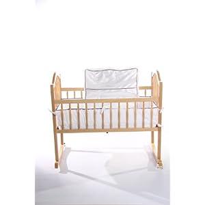 Baby Doll Bedding Go Green Organice Cradle Bedding Set, White