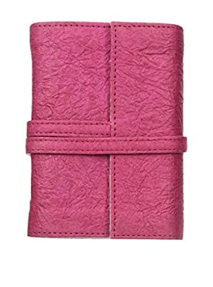 Marina Vaptzarov Small Vegetal Leather Cover Travel Diary, Fuchsia