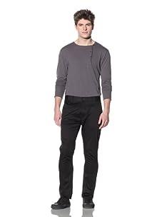 ZAK Men's Straight Fit Stretch Pant (Black)