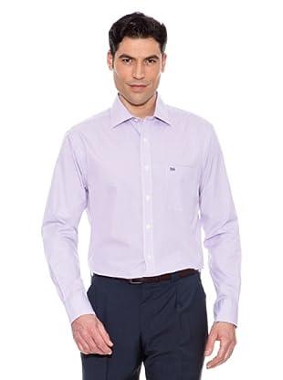 Pedro Del Hierro Camisa Cuadros Pequeños (Morado)