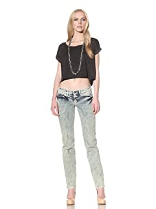 """D&G by Dolce & Gabbana Women's Distressed """"Girly"""" Fit Jean (Faded Blue)"""