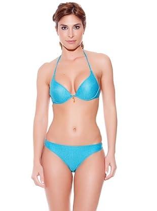 Teleno Bikini Con Aro Y Foam Gold (Turquesa)
