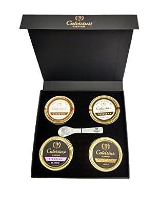 Calvisius Caviar Set of 4 10-Gram Tins in Gift Box