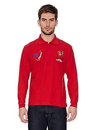 Polo Club Polo Manga Larga Regular Fit (Rojo)