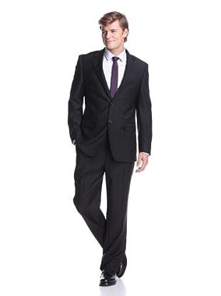 Nicole Miller Men's Notch Lapel Suit (Black)