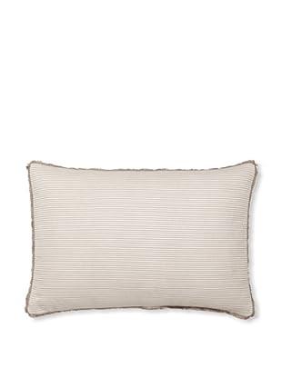 Vera Wang Ribbon Stripe Decorative Pillow, Mocha, 15