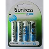 Uniross Ni-MH AA Rechargeable Battery 1000 Mah.