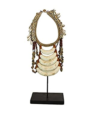 Asian Loft Tribal Decorative Shell Necklace on Stand