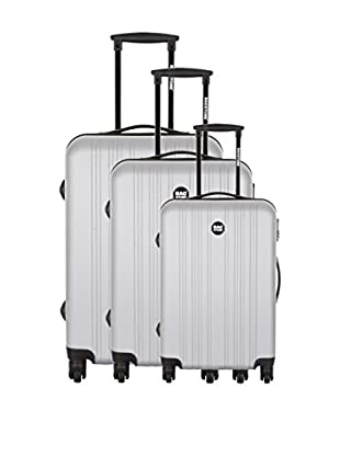 Bag Stone Set de 3 trolleys rígidos Boy Plata