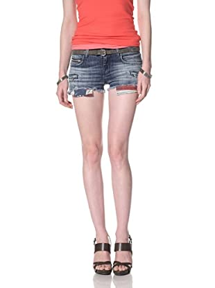 Rockstar Women's Denim Cutoff Shorts (Medium Wash)