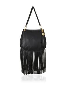Stella & Jamie Women's Sue Studded Fringe Bag (Black)