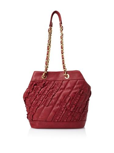 Danielle Nicole Women's Brooke Ruffle Bucket Bag (Wine)