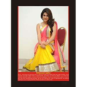 Beautiful yellow n Pink Designer lehenga perfect for a function FS-6118