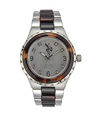 U.S. POLO ASSN. Uhr mit japanischem Quarzuhrwerk Bonny silberfarben 37 mm