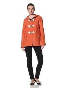 Jane Post Women's Short Duffle Coat (Orange)