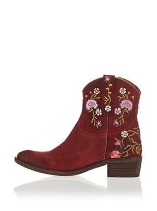 Buffalo London 97 JARANA 137421 - Botines fashion de cuero para mujer (Rojo)