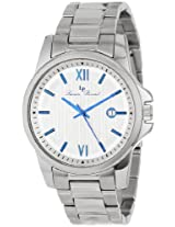 Lucien Piccard Men's 10048-23S Breithorn Silver Textured Dial Stainless Steel Watch