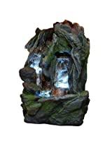 Alpine Waterfall Fountain with LED